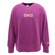 ボックスロゴ スウェットクルーシャツ sl202001003-PUL