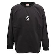 Sロゴ ナイロン長袖Tシャツ sl202002105-BLK