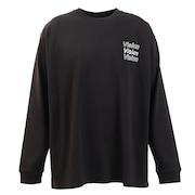 Tシャツ メンズ 長袖 ボタニカルフォトプリント 0323132-01BLK