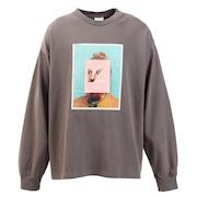 Tシャツ メンズ 長袖 フォト柄 0323152-02CHA