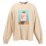 Tシャツ メンズ 長袖 フォト柄 0323152-35BEI