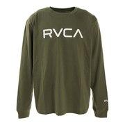 BIG RVCA ロングスリーブTシャツ BA042054 MOS