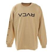 SMALL FLIP RVCA LT ロングスリーブTシャツ BA042060 BEG