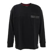 Tシャツ メンズ 長袖 POCKET 869R1CD6276 BLK