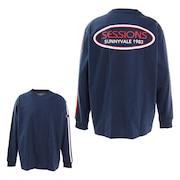 スリーブライン 長袖Tシャツ 217162 NVY