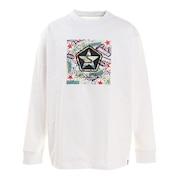 オールドボックスロゴ 長袖Tシャツ 217163 WHT