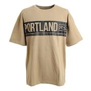 PORTLAND PANEL BIG Tシャツ 869R1EG6259 BEG 半袖