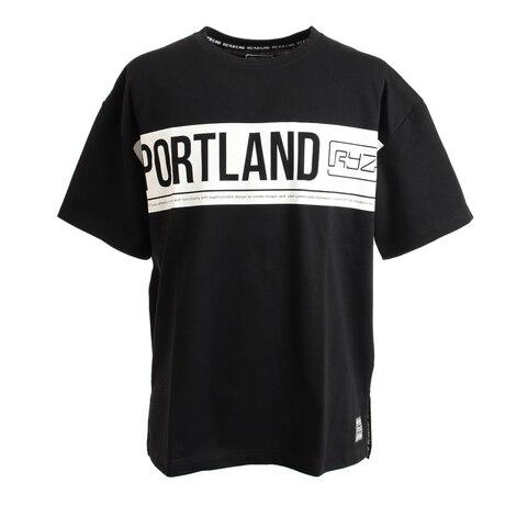 PORTLAND PANEL BIG Tシャツ 869R1EG6259 BLK 半袖