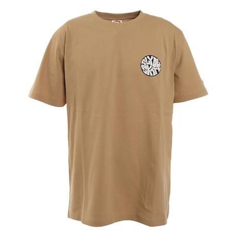 CIRCLE ロゴ半袖Tシャツ sl2021ss002-BEG