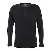 ワッフルヘンリーネックTシャツ 871PA0ES7076BLK