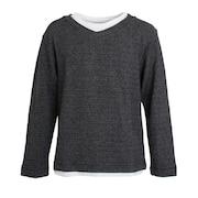フェイクレイヤード ロングTシャツ 871PA0CG7064BLK