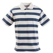 リブ襟 半袖ポロシャツ 871PA0BGI3137WHXBL