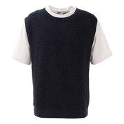 ニットベスト Tシャツセット 871PA0HO3316NVY