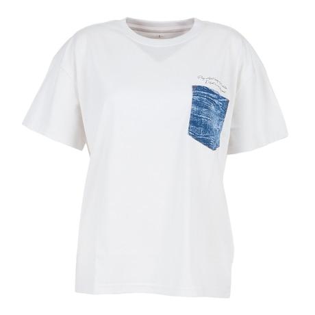 Tシャツ レディース 半袖 デニムポケット付き 872PA1CD6352OWHT カットソー