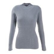 ハイゲージリブ編みセーター 872PA0CG7084BLU オンライン価格