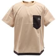 さらさらエアーデザインTシャツ 1957802-20:BEIGE