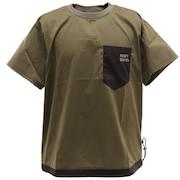 さらさらエアーデザインTシャツ 1957802-69:KHAKI