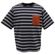 ピュアドライエコボーダーTシャツ 0512112-60 NAV