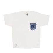 米織小紋柄 胸ポケット 翠雨 半袖Tシャツ CH01-1818-W001