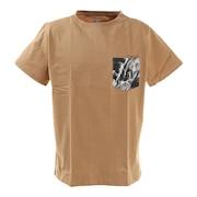 Tシャツ 半袖 EARTH CAMO WE2HJA30 OLV ベージュ 胸ポケット おしゃれ 綿 綿100