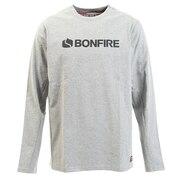 Tシャツ メンズ 長袖 ロゴ50BNF10FCD2051 GRY