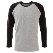Tシャツ メンズ 長袖 スーパーヘビーリップル 1947202-1404:GRAY/BLK