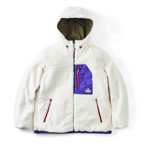 ボア ジャケット ルームウェア もこもこ 冬 フリース リバーシブル エルモ ゴアテックス インフィニアム リバーシブル フーディー CH04-1252-M032