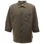 クイックドライストレッチ 7分袖シャツジャケット 0512122-31 KHA