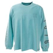 Tシャツ メンズ 長袖 ピグメントプリント SAS1934603-BLUE