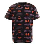 ALLOVERPRINT 半袖Tシャツ 101202011003 BLK