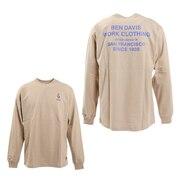 ミニゴリラ刺繍長袖Tシャツ 1380018-BEG