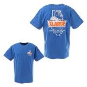 XLARGE×123KLAN BURGER 半袖Tシャツ 101212011031-BLUE
