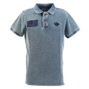 インディゴ DYED ロゴ ポロシャツ 881EK0FQ3290BLU オンライン価格