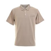 鹿の子 半袖ポロシャツ 0551000-BEI