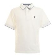 二枚襟 鹿の子 半袖ポロシャツ 0551002-WHT