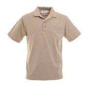 オープンカラー 半袖ポロシャツ 0551005-BEI