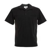 オープンカラー 半袖ポロシャツ 0551005-BLK