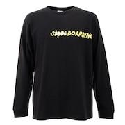 Tシャツ メンズ 長袖 PHOTO sl201909003-BLK オンライン価格