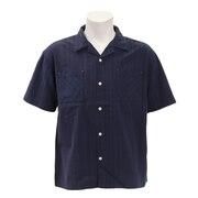 ストライプ半袖シャツ SAS1858903-3-NVY