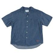 リラックスデニムオープンカラーシャツ SAS1954611-72 D/BLUE