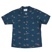 総柄オープンカラーシャツ SAS1954615-79 NAVY