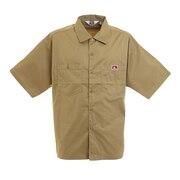 ビッグシルエット 半袖ワークシャツ 0580036-BEG
