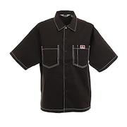 ビッグシルエット 半袖ワークシャツ 0580036-BLK