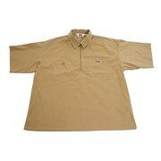 ハーフジップ半袖シャツ 0580041-BEG