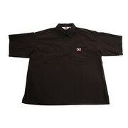 ハーフジップ半袖シャツ 0580041-BLK