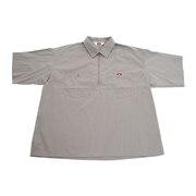 ハーフジップ半袖シャツ 0580041-GRY