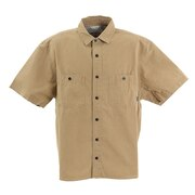 WASHED BUTTON DOWN 半袖シャツ 55100127-BEG