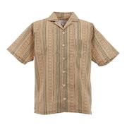 総柄オープンカラーシャツ 0551041-BEI