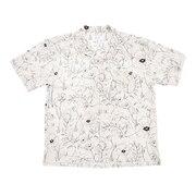 総柄半袖シャツ 1551023-WHT