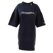 Tシャツ レディース 半袖 ロング丈 ハイネック チュニック RBL20S1001 NVY ネイビー